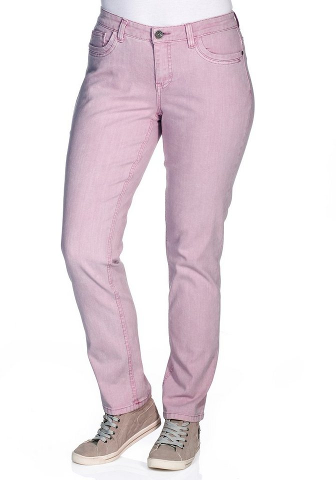 by s.Oliver Gerade Stretch-Hose in rosé