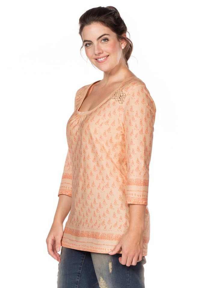 sheego Casual ¾-Arm-Shirt in apricot