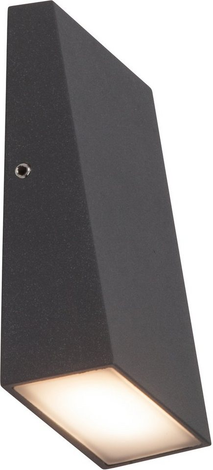AEG LED Außenleuchte, 1flg.,Wandleuchte , »TIVANA« in Aluminium /Kunststoff, anthrazit/satiniert, weiß