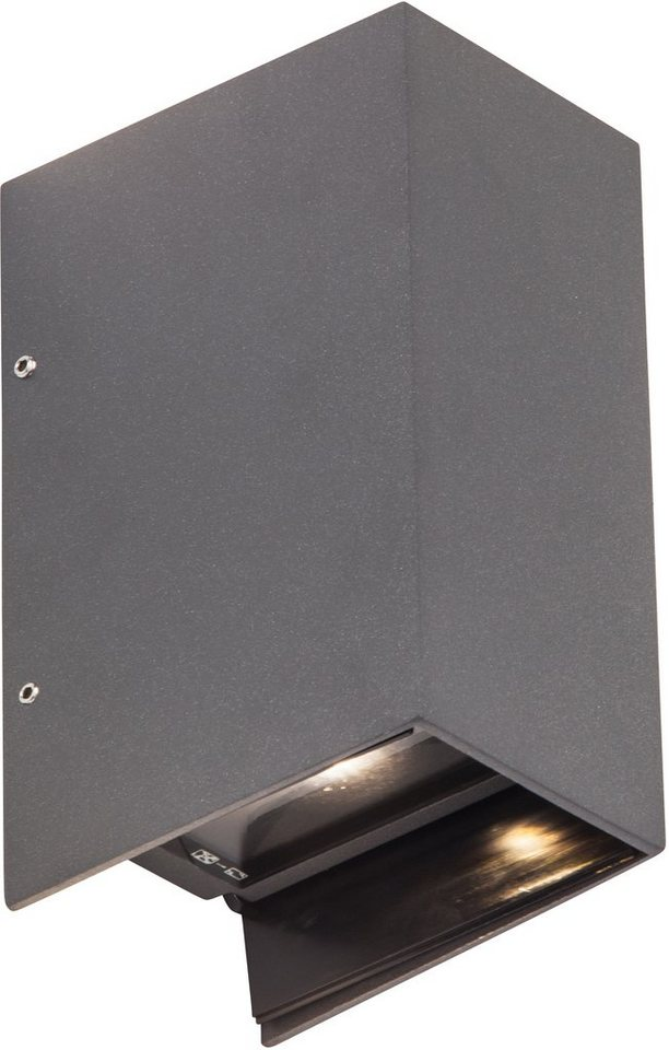 AEG LED Außenleuchte, 2flg., Wandleuchte, »ADAPT« in Aluminium, Glas, anthrazit