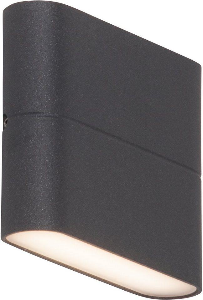 AEG LED Außenleuchte, 2flg.,Wandleuchte , »TELESTO« in Aluminium /Kunststoff, anthrazit/satiniert, weiß