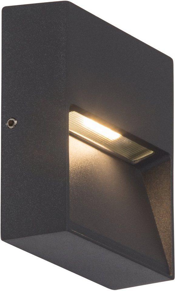 AEG LED Außenleuchte, 1flg., Wandleuchte, »FRONT« in Aluminium, Glas, anthrazit