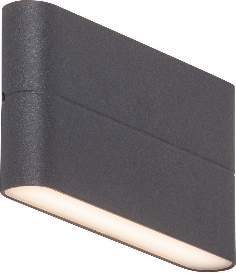 AEG LED Außenleuchte, 2flg., Wandleuchte, »TELESTO« in Aluminium /Kunststoff, anthrazit/satiniert, weiß
