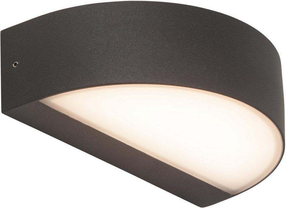 AEG LED Außenleuchte, 1flg., Wandleuchte, »MONIDO« in Aluminium /Kunststoff, anthrazit/satiniert, weiß