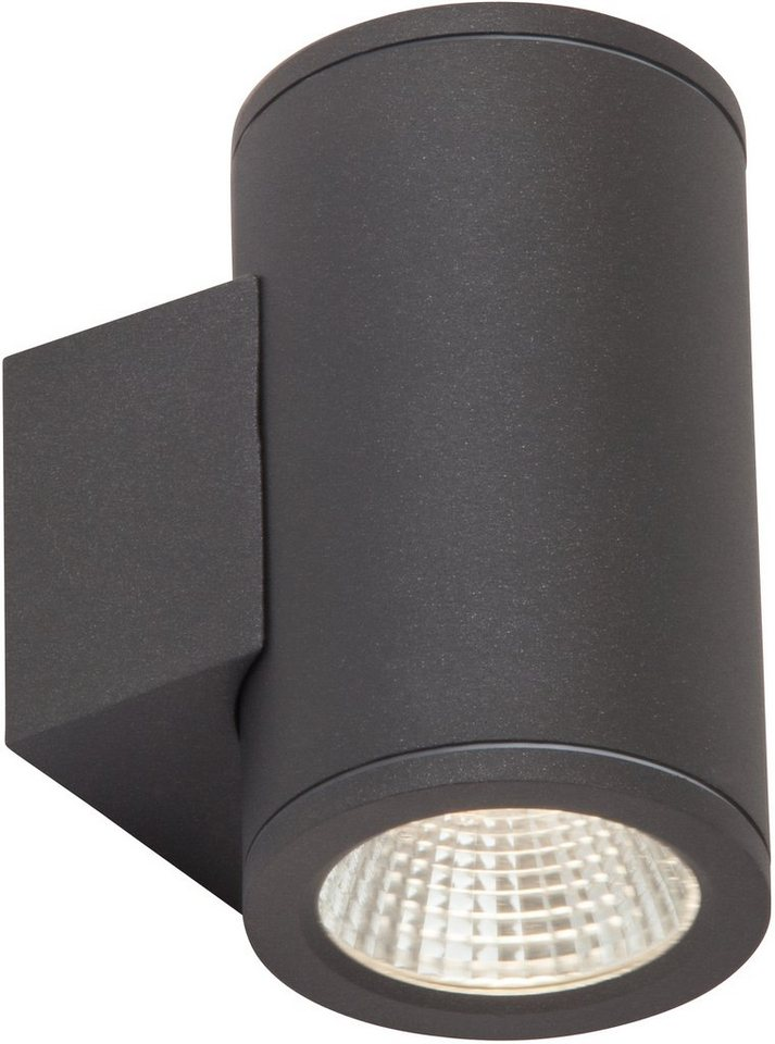 AEG LED Außenleuchte, 2flg., Wandleuchte, »ARGO« in Aluminium, Glas, anthrazit
