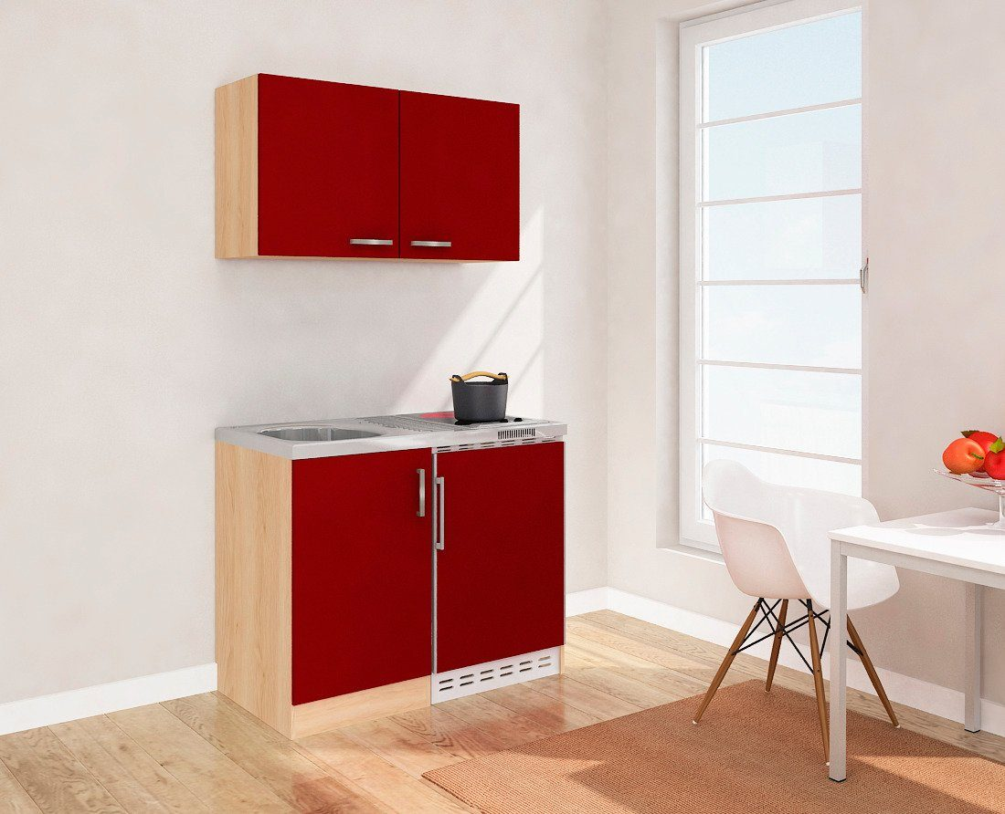 Miniküche Mit Kühlschrank Und Backofen : Miniküche mit glaskeramikkochfeld und kühlschrank breite cm