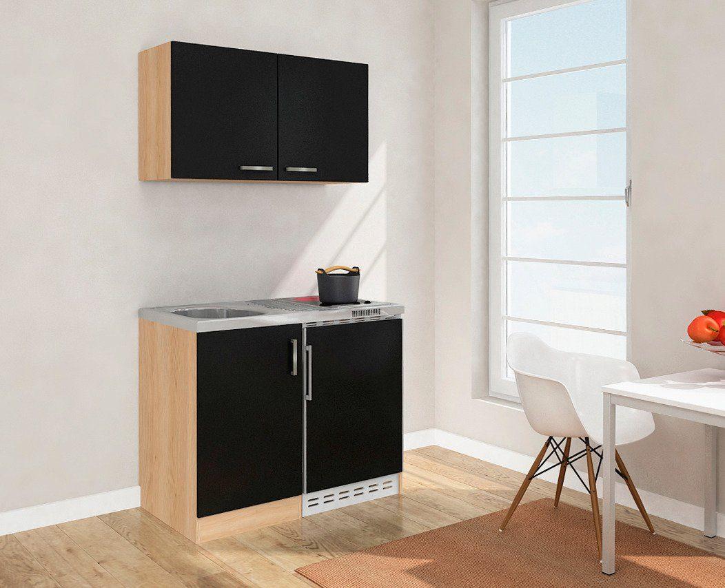Miniküche Mit Kühlschrank 100 Cm : Miniküche mit glaskeramikkochfeld und kühlschrank breite cm