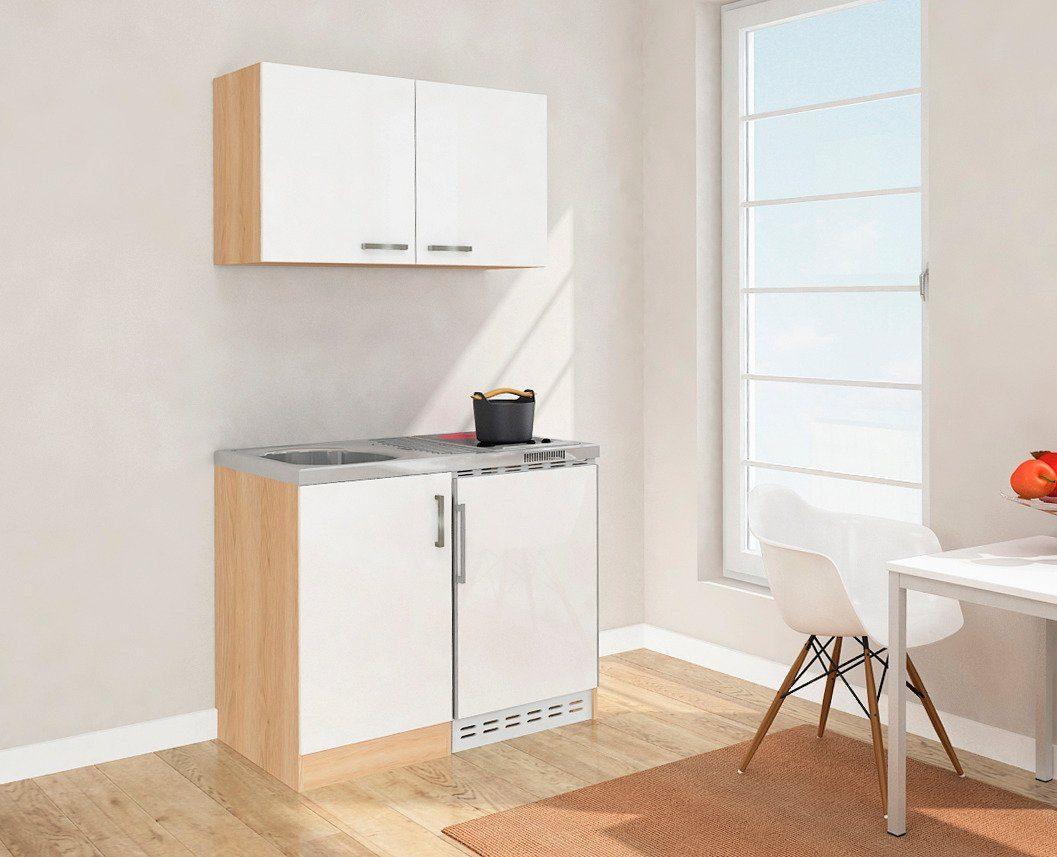 Hervorragend Miniküche mit Glaskeramikkochfeld und Kühlschrank, Breite 100 cm  ND01