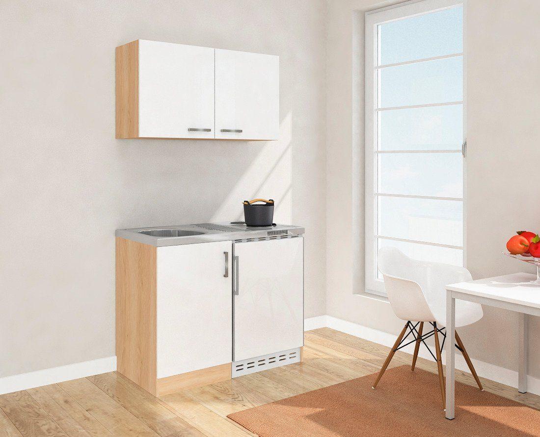 Miniküche Mit Kühlschrank 90 Cm : Miniküche mit duo kochplattenfeld und kühlschrank breite cm
