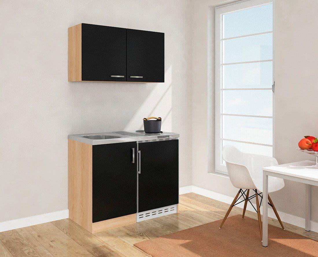 Miniküche Kühlschrank Links : Miniküche mit duo kochplattenfeld und kühlschrank breite cm