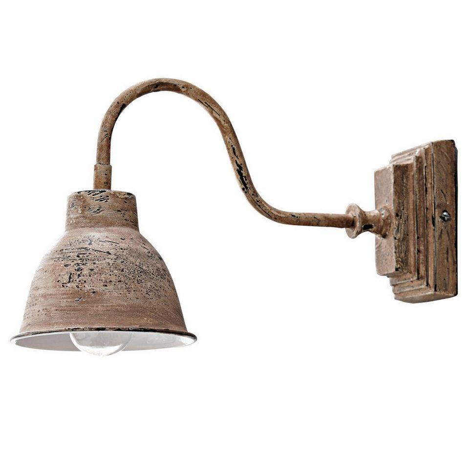 Loberon Wandlampe »Iggy« in antikbraun