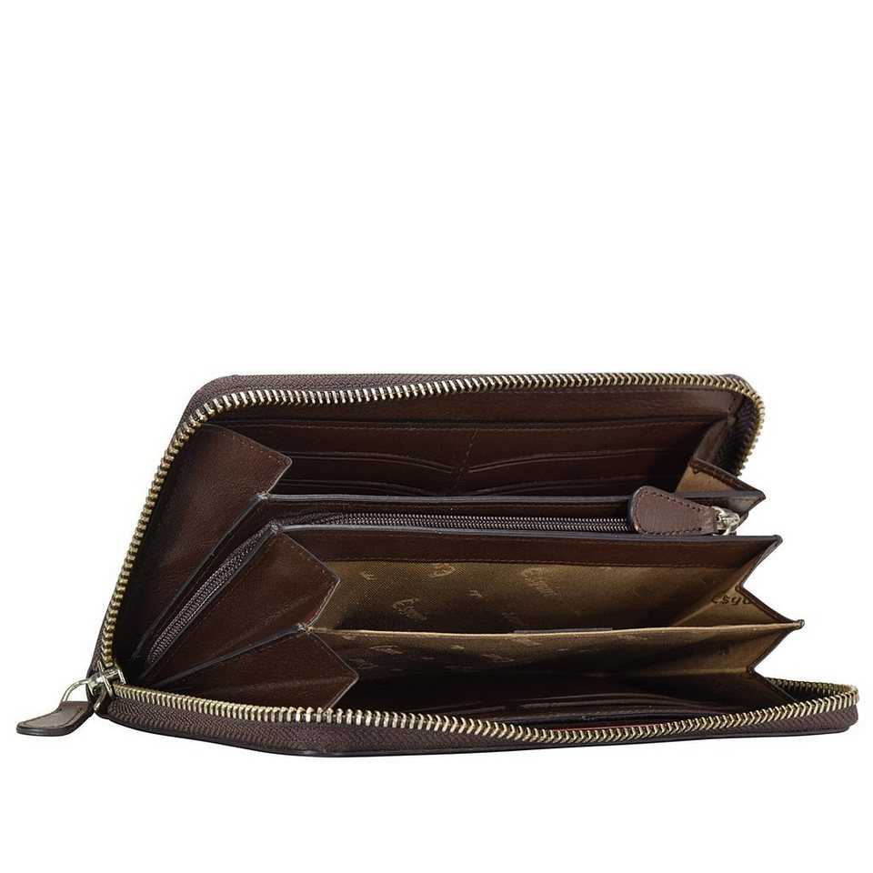 Esquire Esquire Vienna Geldbörse Leder 19 cm in mocca