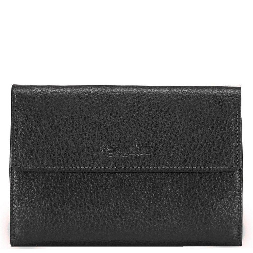 Esquire Primavera Geldbörse Leder 14 cm in schwarz
