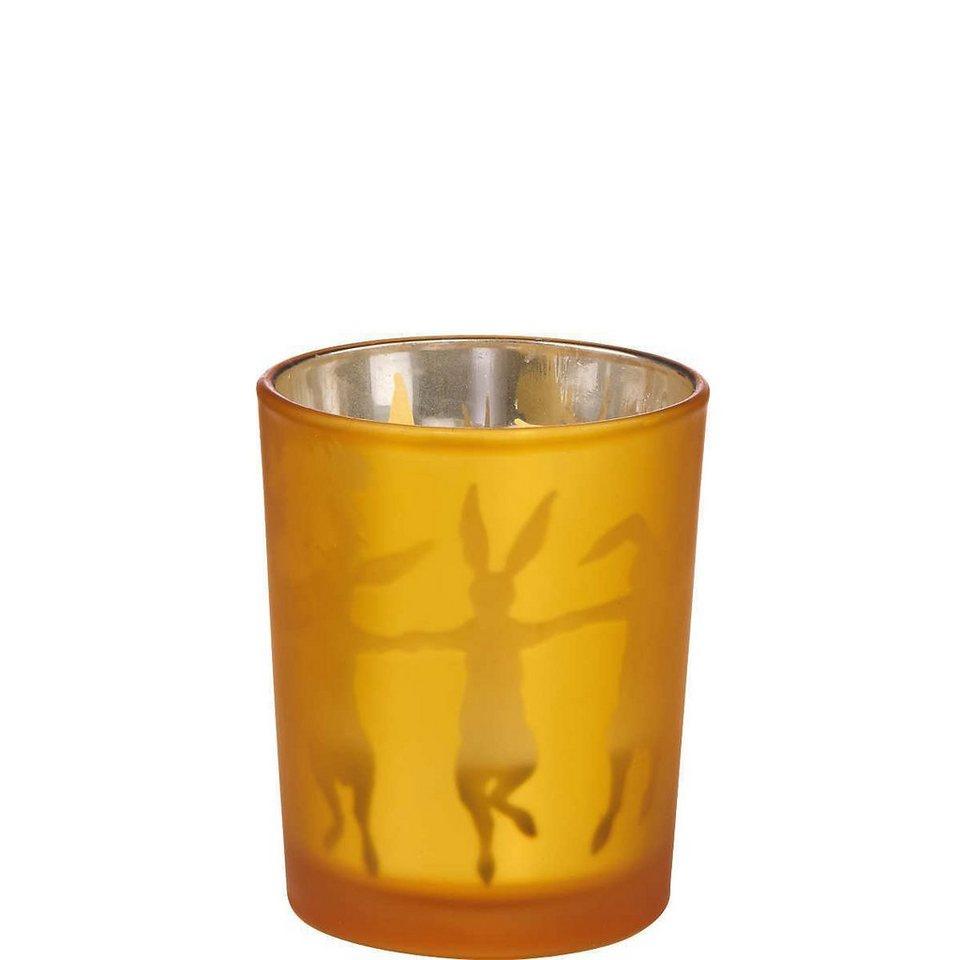"""BUTLERS DELIGHT »Teelichthalter """"Hase""""« in gelb"""