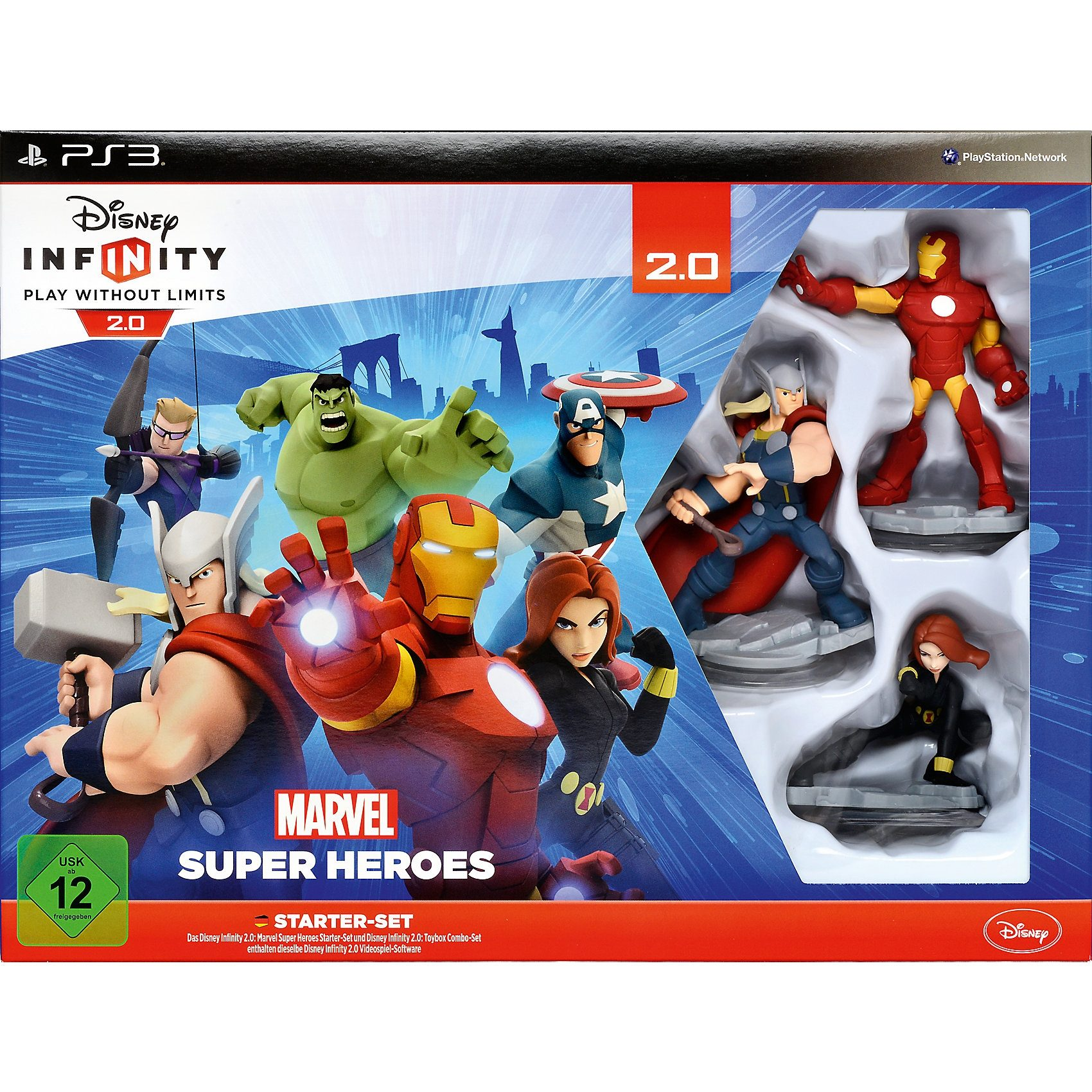 ak tronic PS3 Disney Infinity 2.0 Marvel Super Heroes Starter Set