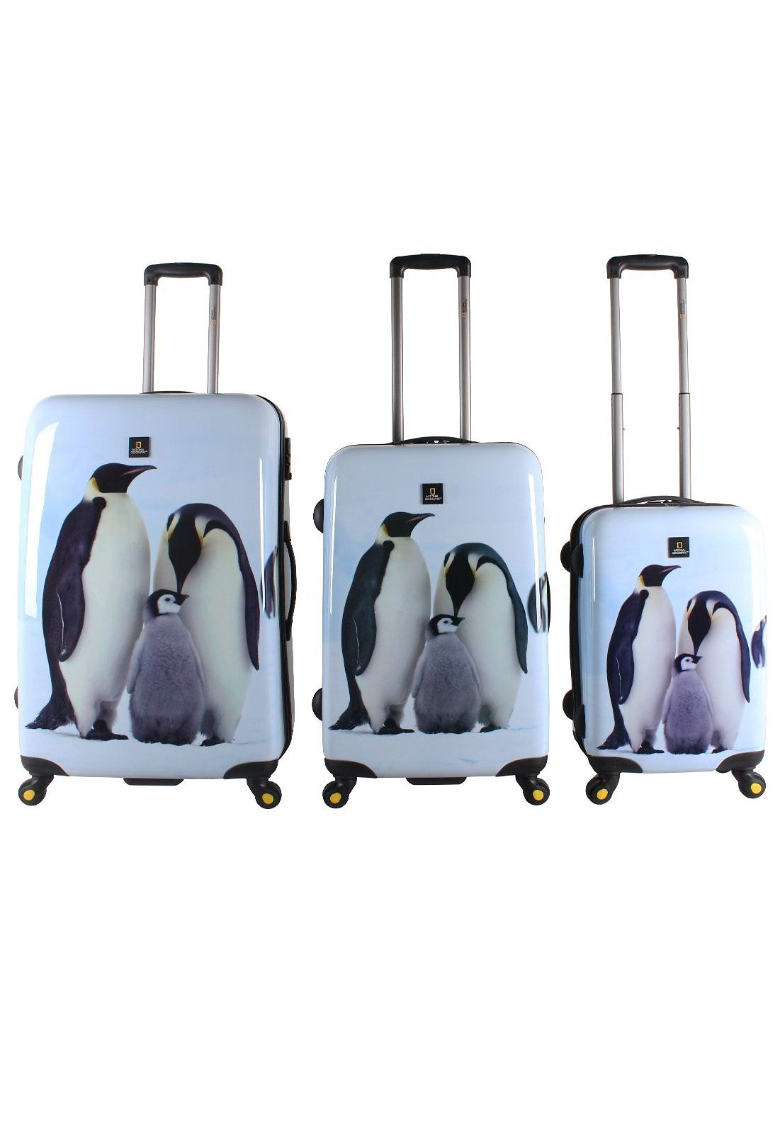 National Geographic, Trolley-Set mit 4 Rollen, Nature of Love, »Pinguin« (3tlg.)