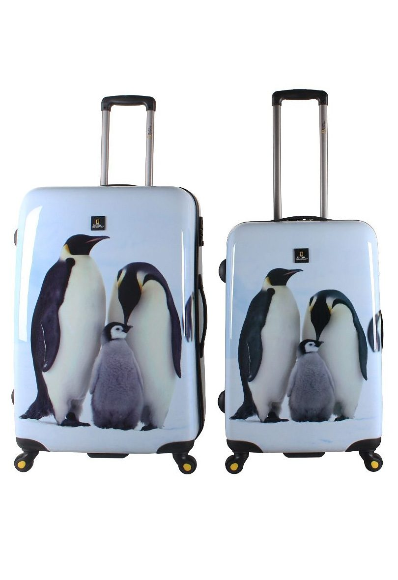 National Geographic, Trolley-Set mit 4 Rollen, Nature of Love , »Pinguin« (2tlg.)