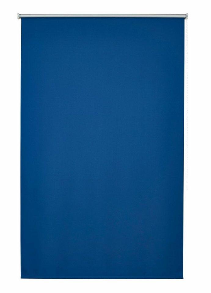 Seitenzugrollo, Good Life, »Amelie«, im Fixmaß, Verdunkelung/Energiesparend (1 Stck.) in blau / silber