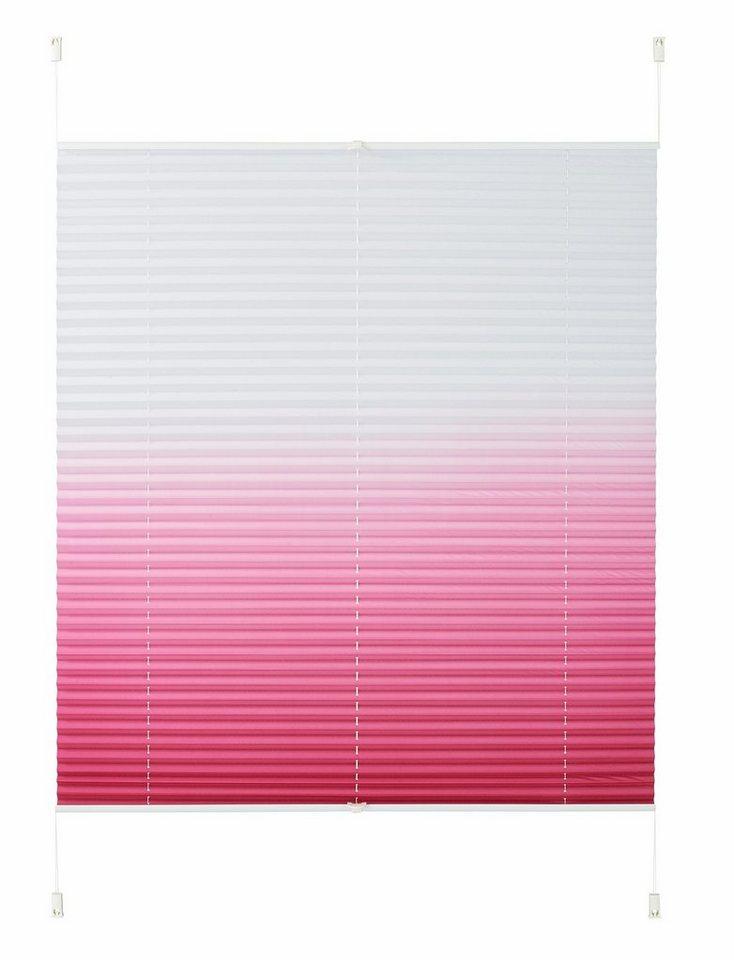 Plissee, My Home, »Sakata«, Faltenstore, Lichtschutz, Fixmaß in pink