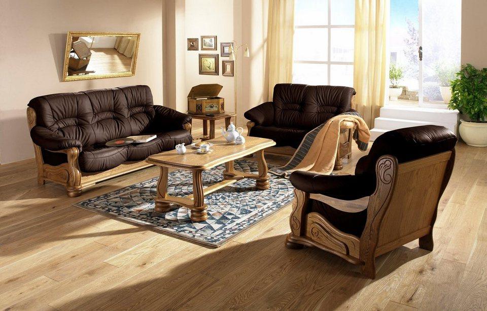 Max Winzer® 2-Sitzer Sofa »Texas«, mit dekorativem Holzgestell ...