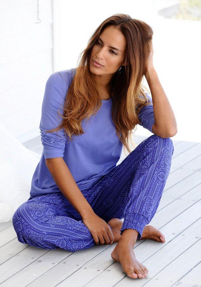Buffalo Pyjama in blau gemustert