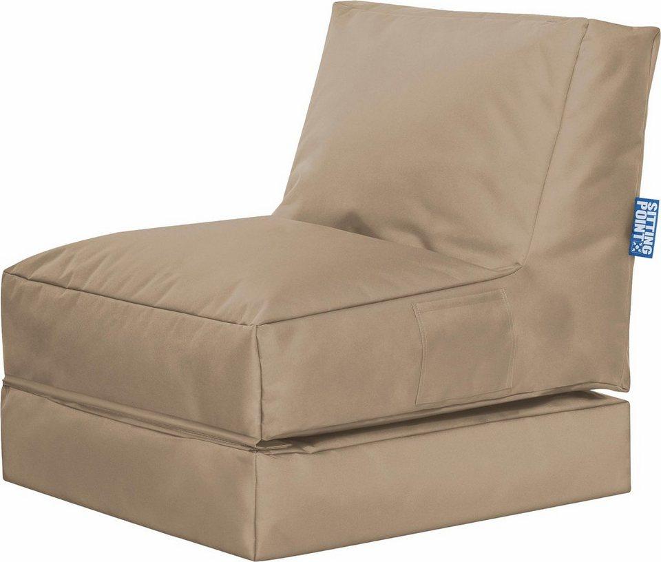 Sitting Point Sitzsack Mit Liegefunktion »Twist SCUBA«, 2 Teilig