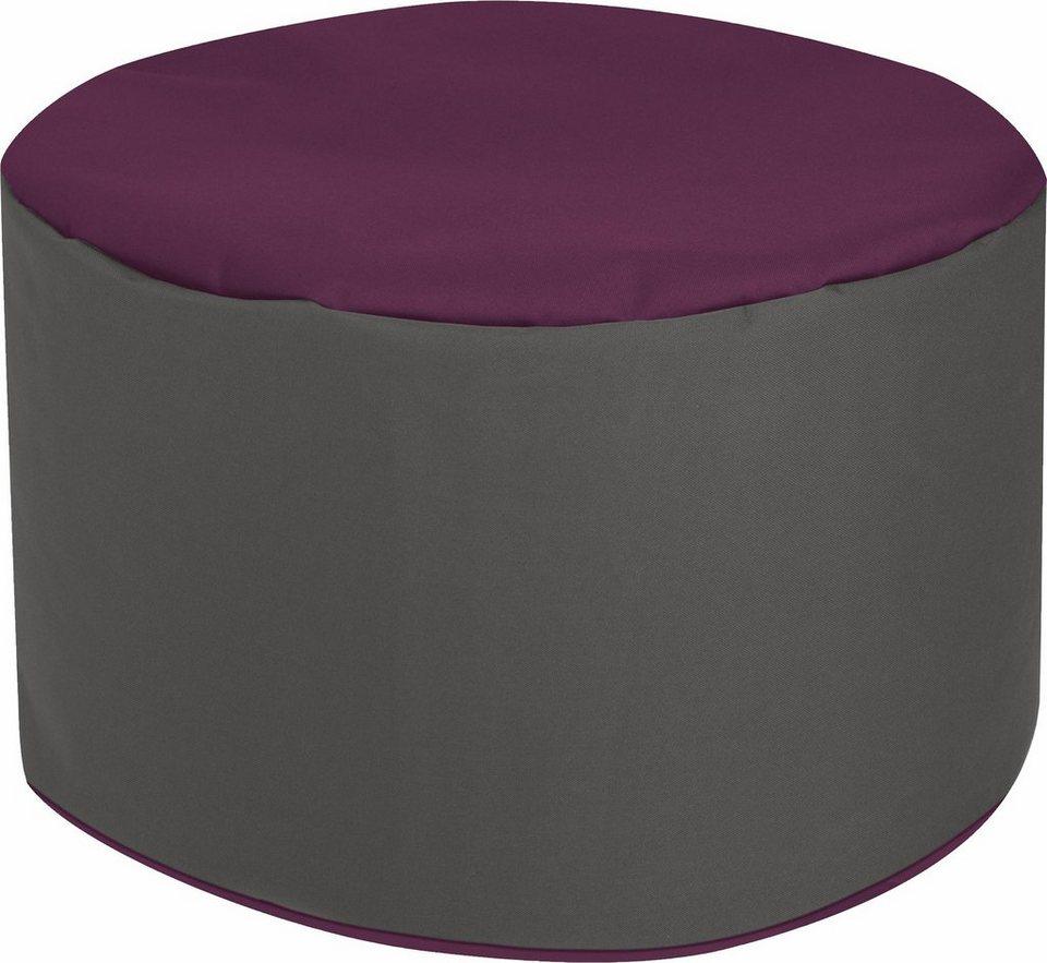 Sitting Point Sitzhocker »DotCom Bebop SCUBA«, zweifarbig in aubergine