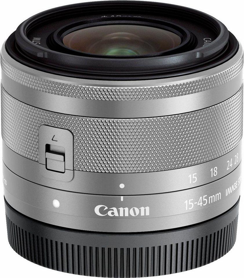 Canon EF-M 15-45mm f/3,5-6,3 IS STM Weitwinkel Objektiv in silberfarben