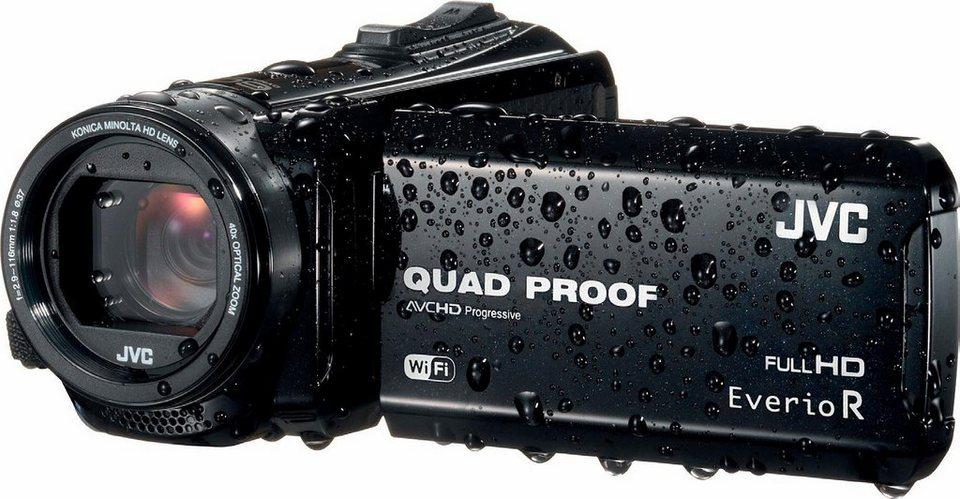 JVC GZ-RX610 1080p (Full HD) Camcorder, WLAN, Staubfest in schwarz