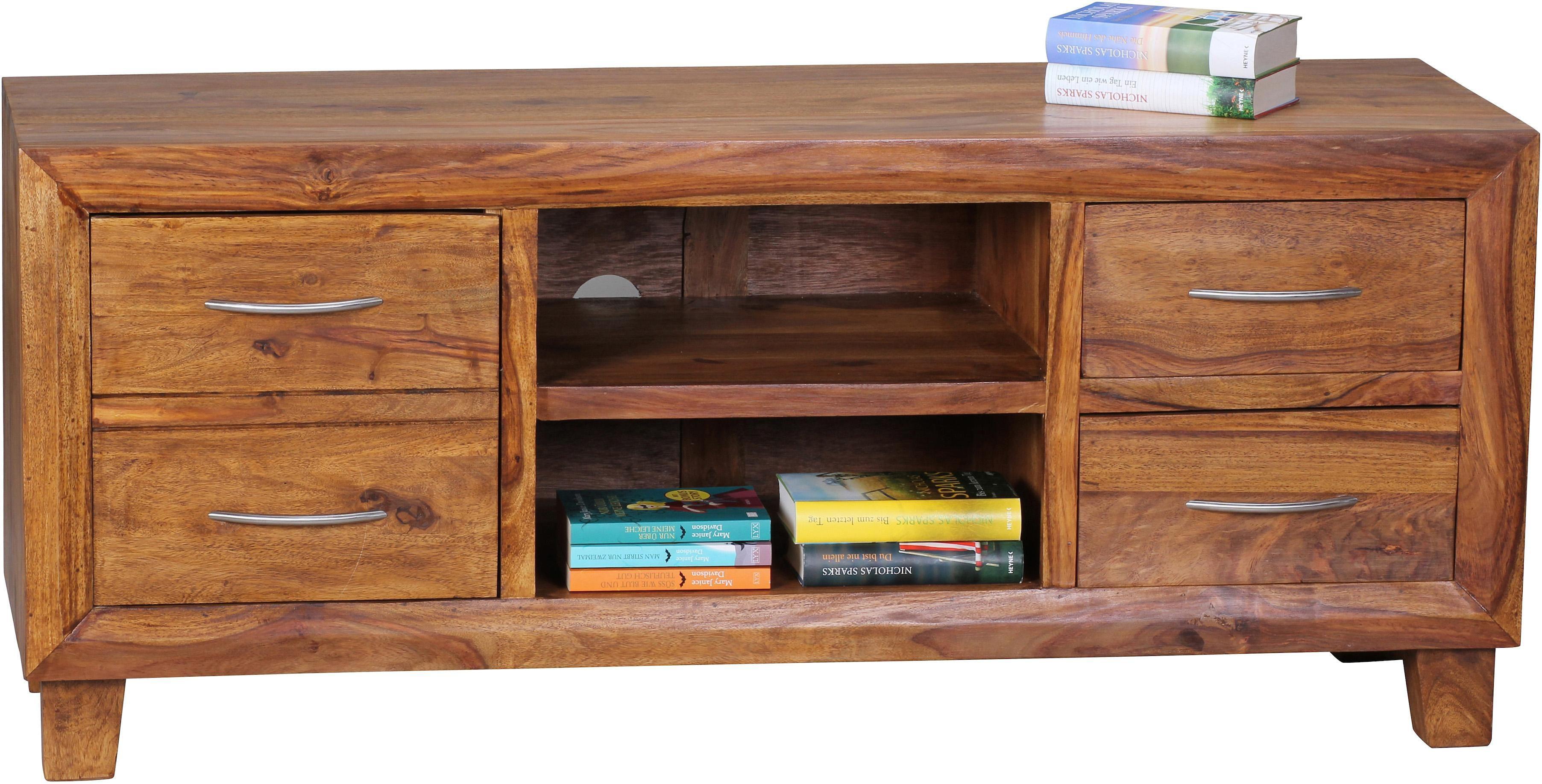 Home affaire Lowboard »Malati« 135 cm aus massivem Sheeshamholz
