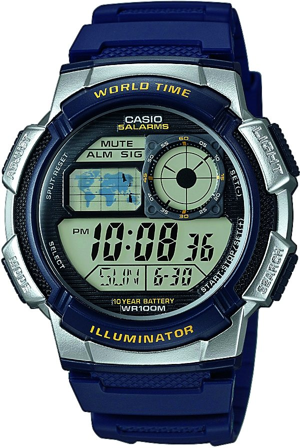Casio Collection Chronograph »AE-1000W-2AVEF« in blau
