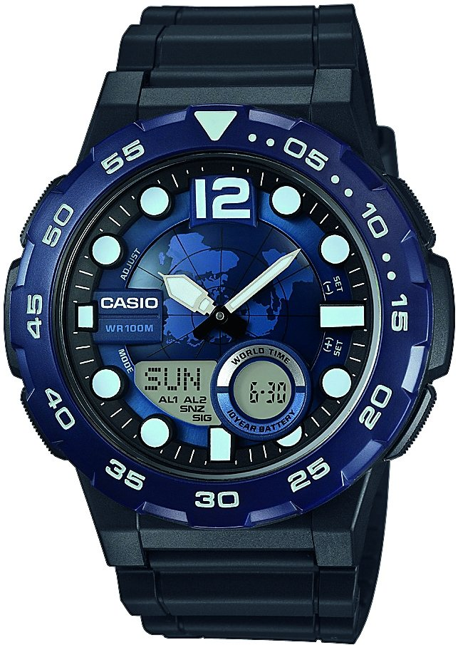 Casio Collection Chronograph »AEQ-100W-2AVEF« in schwarz