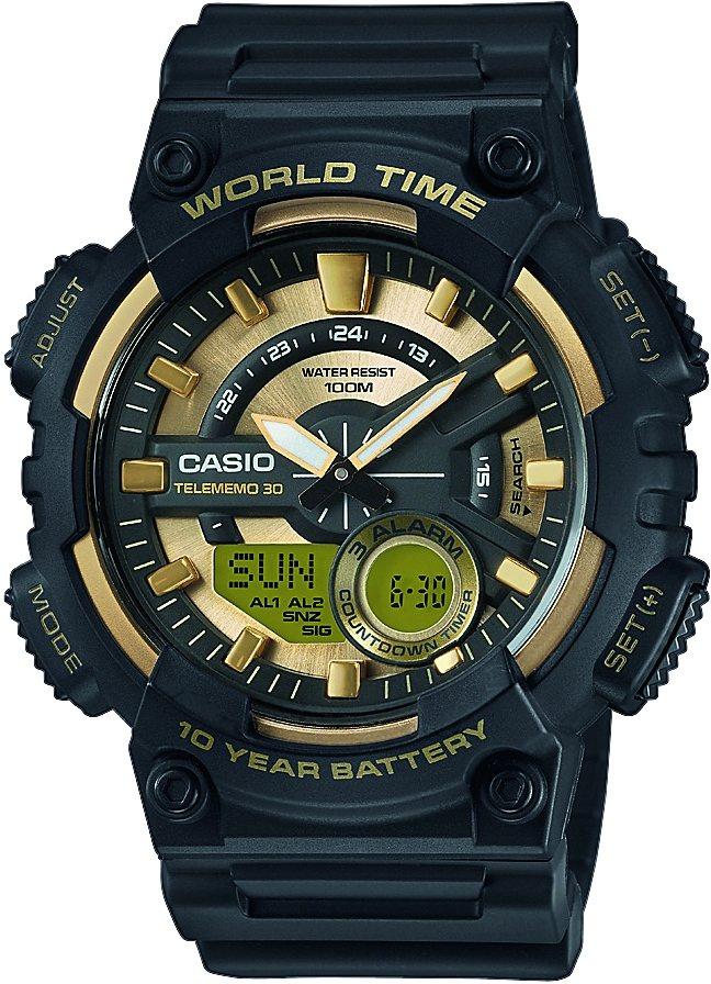 Casio Collection Chronograph »AEQ-110BW-9AVEF« in schwarz