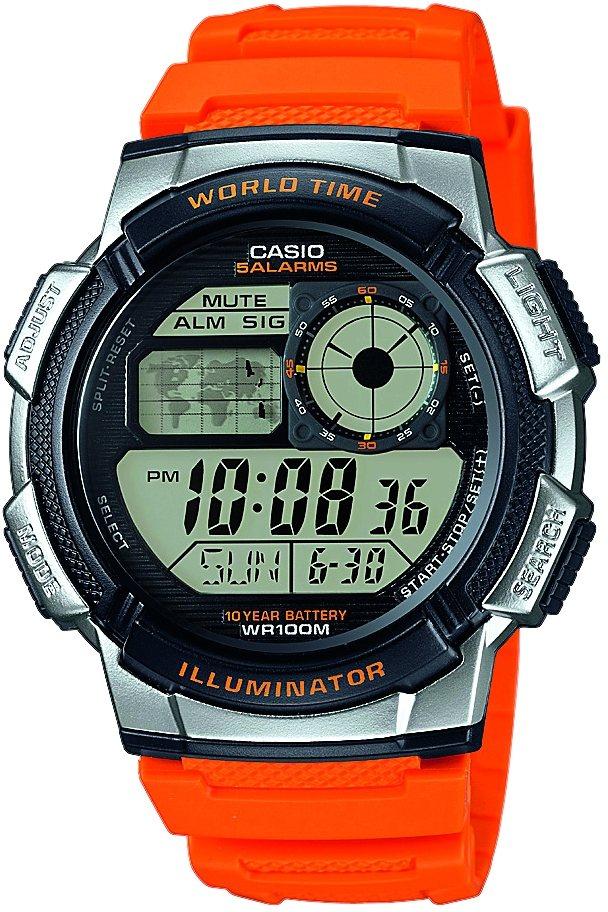 Casio Collection Chronograph »AE-1000W-4BVEF« in orange