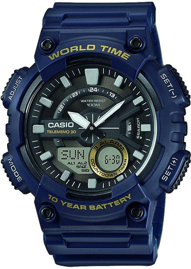 Casio Collection Chronograph »AEQ-110W-2AVEF« in blau