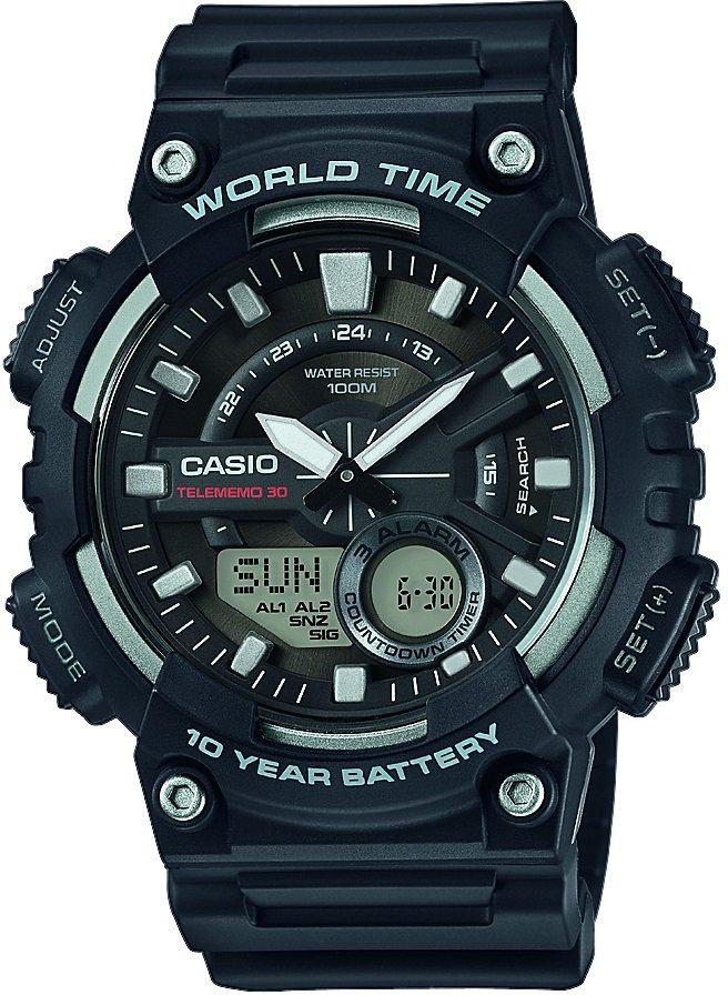 Casio Collection Chronograph »AEQ-110W-1AVEF« in schwarz