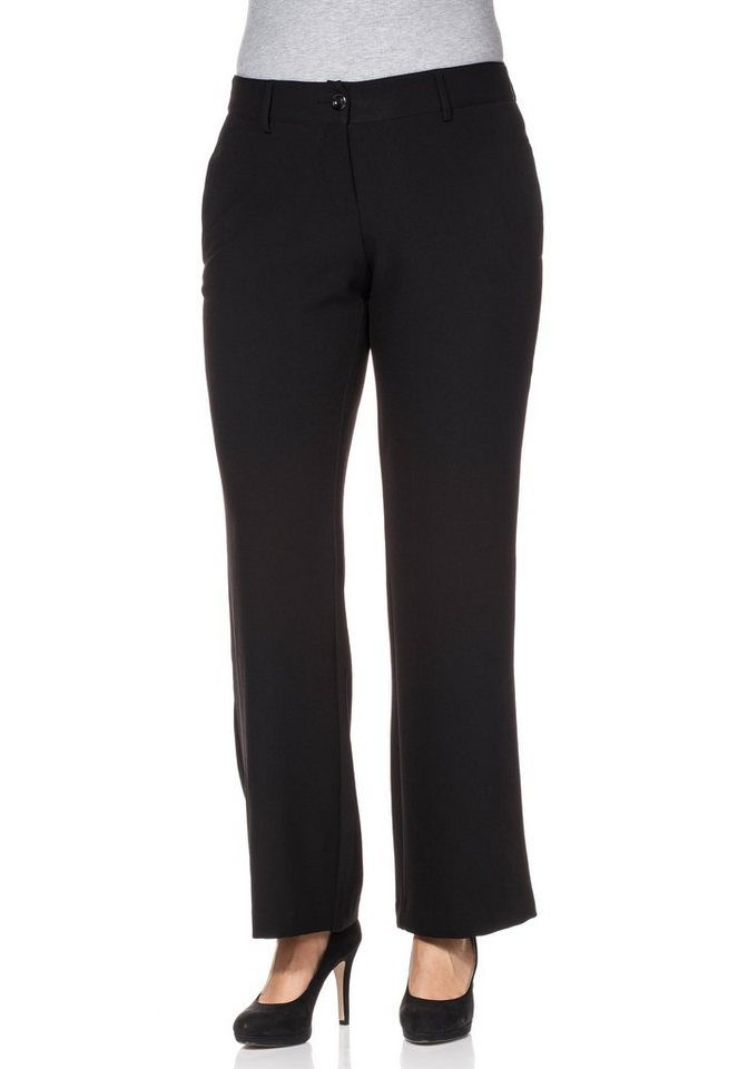 sheego Class Weite Stretch-Hose in schwarz