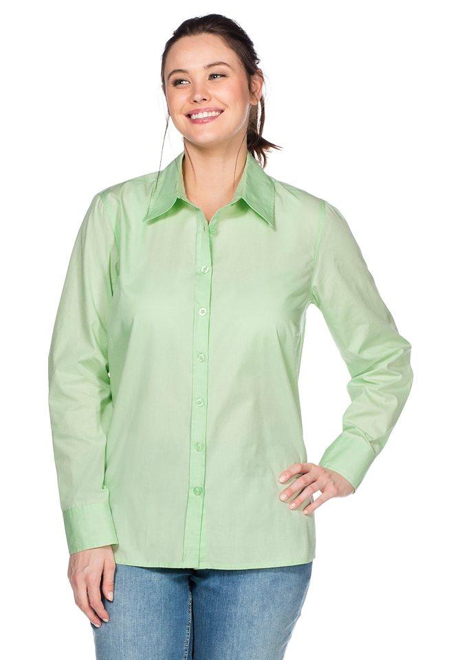 sheego Casual BASIC Bluse in apfelgrün