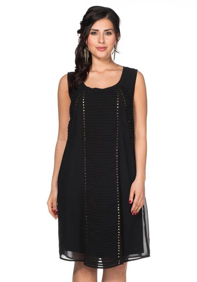 sheego Style Kleid in schwarz