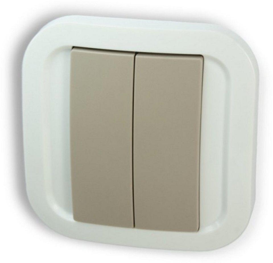 Z-Wave Smart Home Zubehör »Wandschalter« in Grau-Weiß
