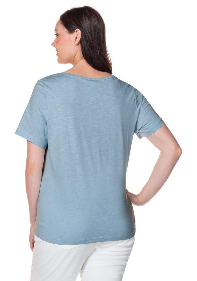 sheego Casual T-Shirt in pastellblau