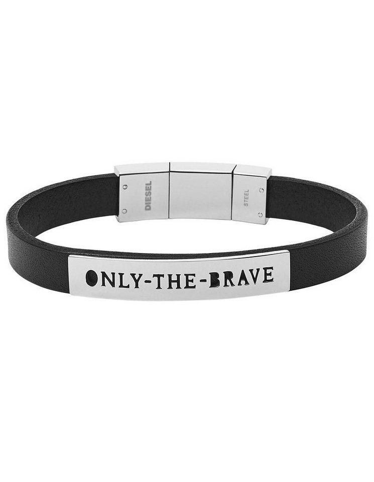 Diesel Armband, »Only the brave, DX0921040« in schwarz-silberfarben