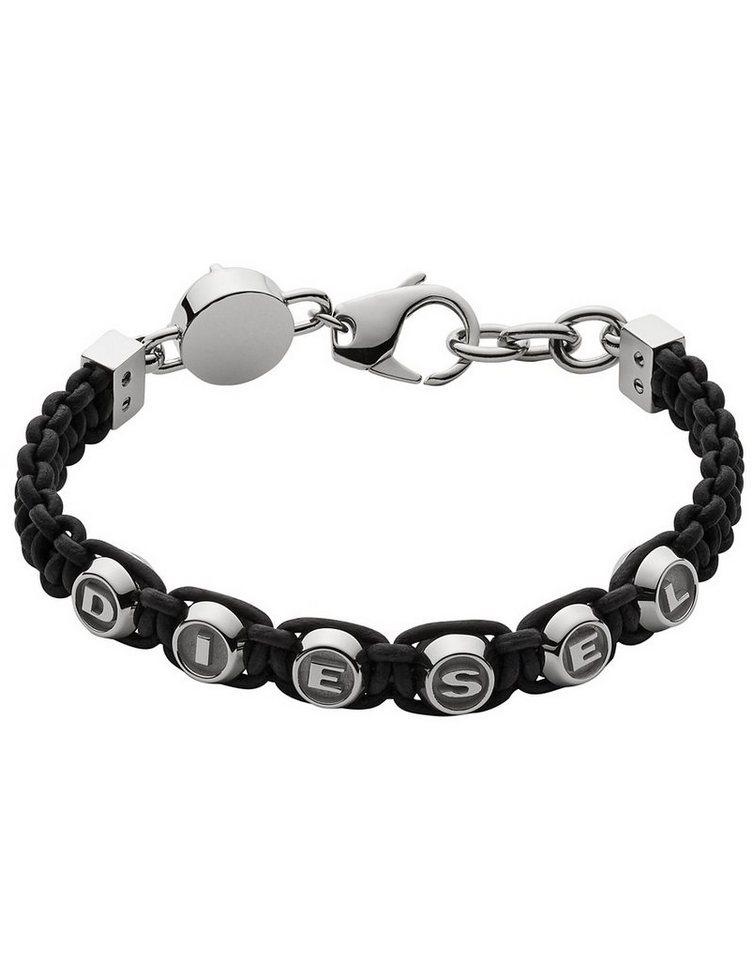 Diesel Armband, »Foundry, DX0947040« in schwarz-silberfarben