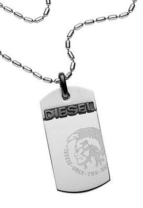 Diesel Kette mit Anhänger, »DX0007040« in silberfarben-schwarz