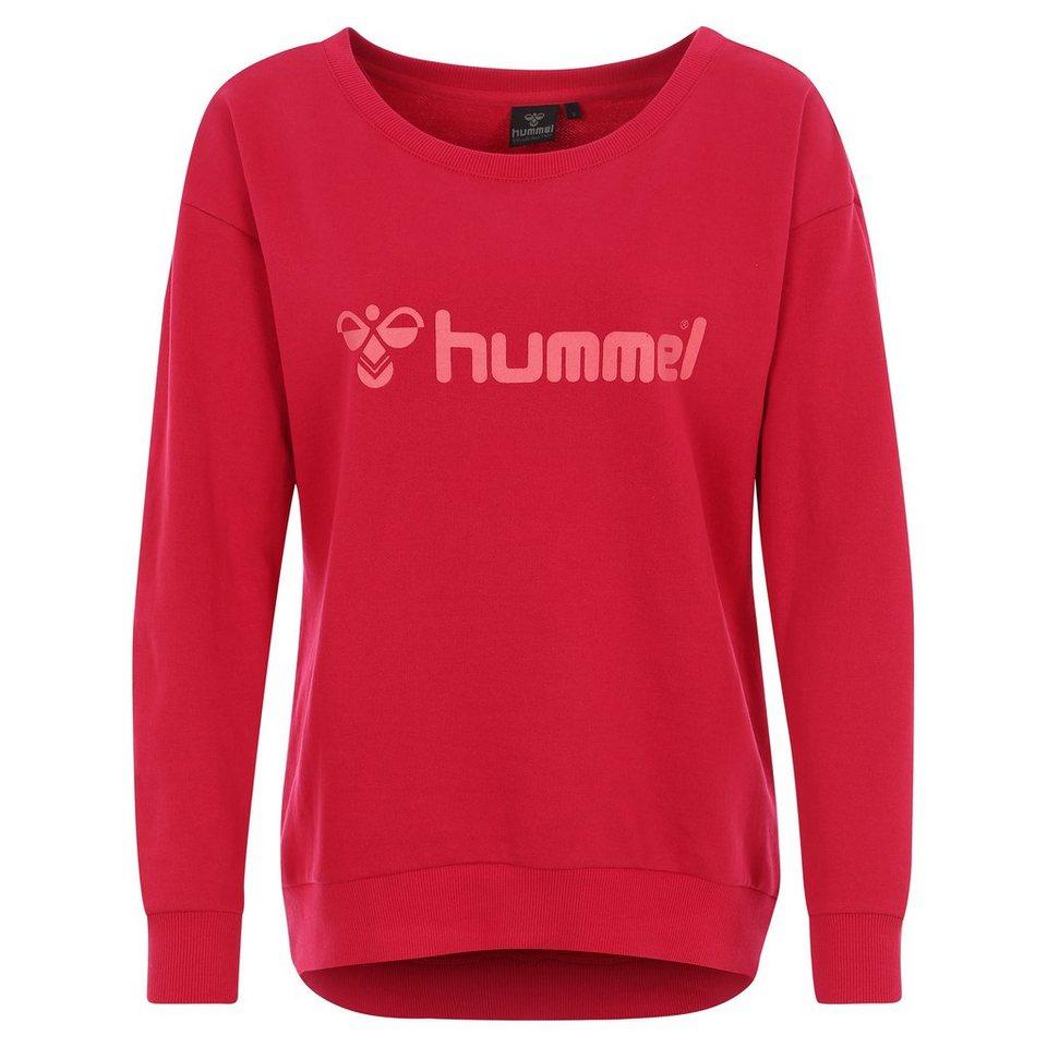HUMMEL TEAMSPORT Classic Bee Sweatshirt Damen in rot