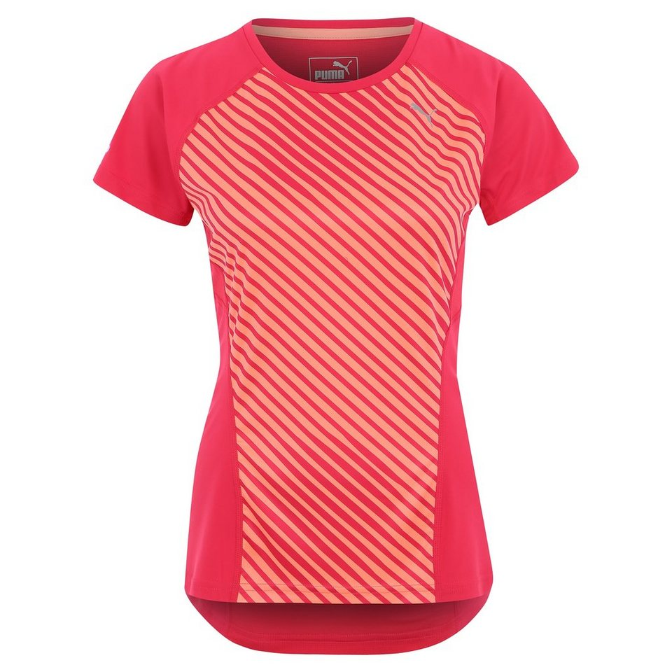 PUMA Graphic Laufshirt Damen in pink / orange
