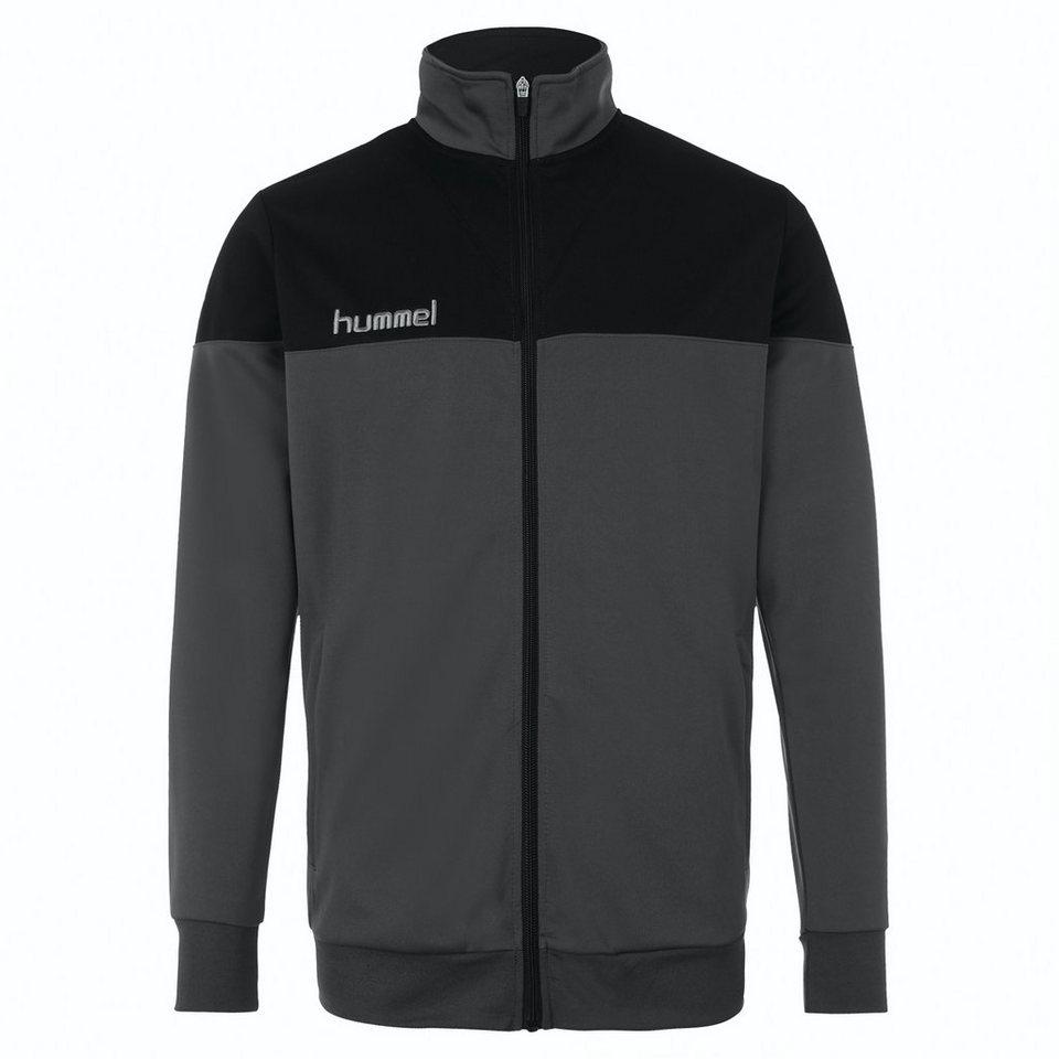 HUMMEL TEAMSPORT Sirius Trainingsjacke Herren in anthrazit / schwarz