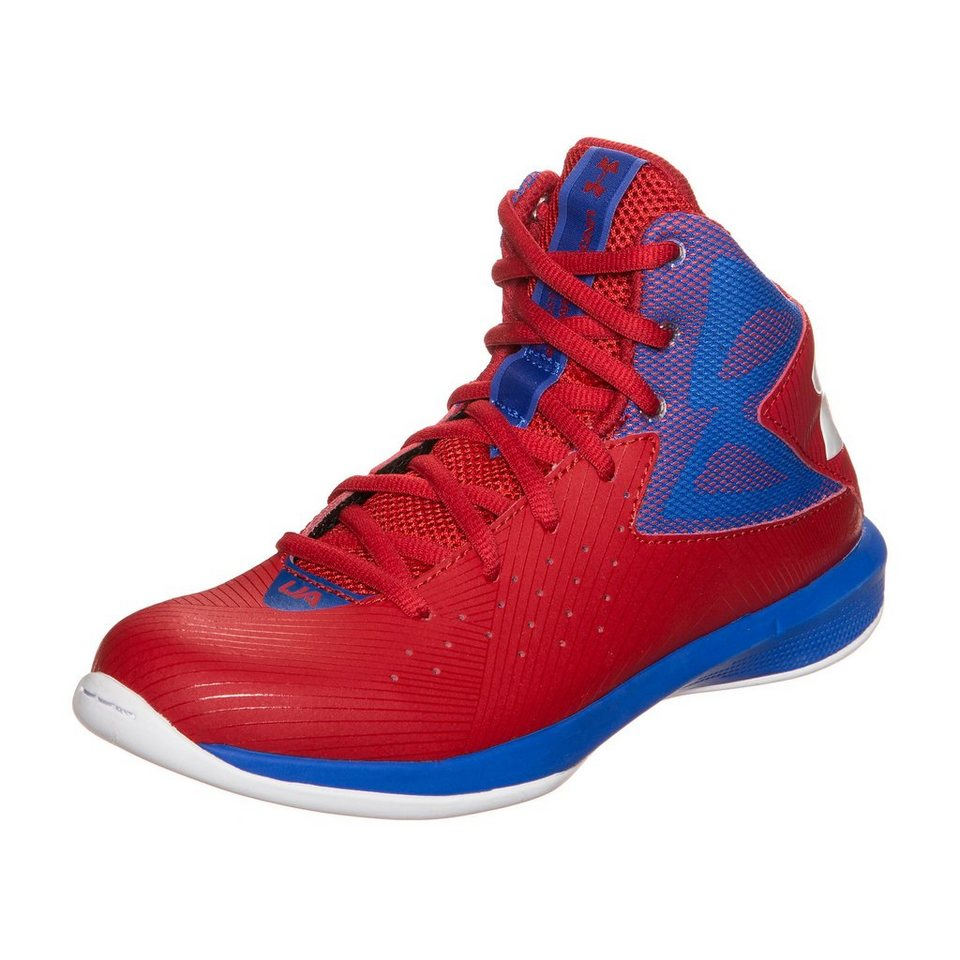 Under Armour® BGS Rocket Basketballschuh Kinder in rot / blau