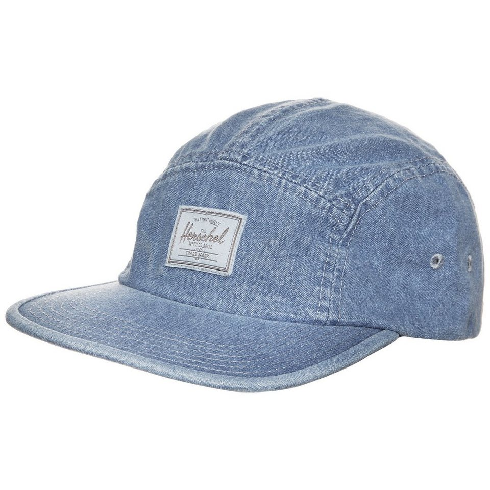 Herschel Glendale Five Panel Cap in denim blau