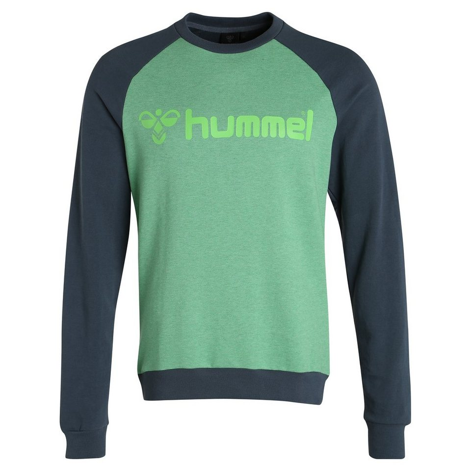 HUMMEL TEAMSPORT Classic Bee Crew Sweatshirt Herren in grün / anthrazit